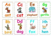 English Worksheet: Alphabet flashcards 1