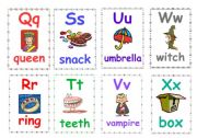 English Worksheet: Alphabet flashcards 3