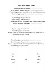 English Worksheets: Action song