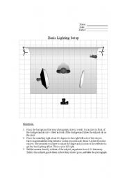 Printables Photography Worksheets english worksheets photography basic lighting setup worksheet setup