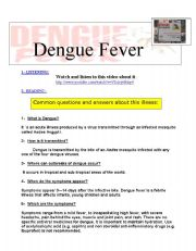 English Worksheet: Dengue