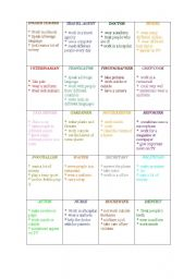 English Worksheet: JOBS AND 3RD PERSON SINGULAR