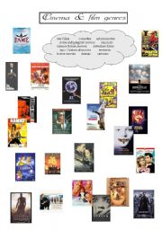 English Worksheets: Cinema and film genres - PART II
