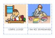 English Worksheet: Daily actions flashcards 3/5
