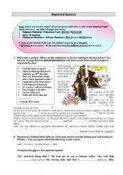 Reported Speech - Worksheet