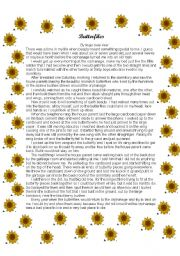 English Worksheets: Butterfiles!!