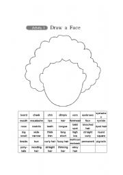 English Worksheets: Draw the Face and Choose one (2pages)
