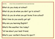 English Worksheets: Trinty 3 Question cards