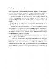 English Worksheets: visting Hong KOng