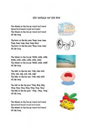 English Worksheet: Wheels on the bus