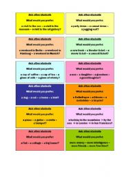 English Worksheets: Preferences - walkaround asking questions