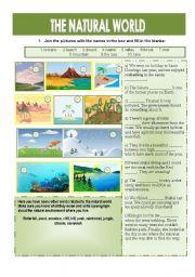 English Worksheets: The natural world