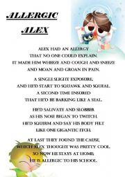 Allergic Alex - Poem