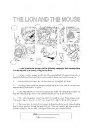 Printables The Lion And The Mouse Worksheets english teaching worksheets the lion and mouse mouse