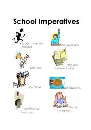 school imperatives classroom rules esl worksheet by etgaughan. Black Bedroom Furniture Sets. Home Design Ideas