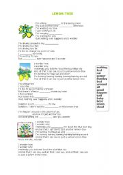 English Worksheet: LEMON-TREE