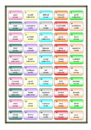 English Worksheet: Word Formation Game