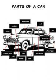 English Worksheet: PARTS OF A CAR