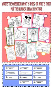 English Worksheets: WHAT`S THIS? VS WHO`S THIS?