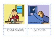 English Worksheet: Daily actions flashcards 5/5