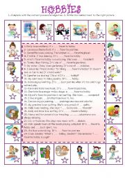 English Worksheets: Hobbies (3)