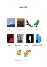 English Worksheets: As...As