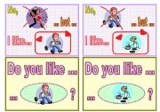 Speaking-chain cards set 1