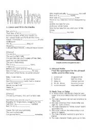 English Worksheet: White Horse