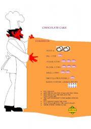 English Worksheets: chocolate cake