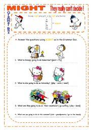 English Worksheets: MIGHT - SHORT ACTIVITY