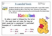 English Worksheets: R-contrrolled