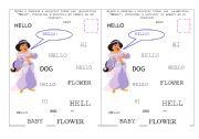 English Worksheets: Practising Hello
