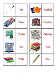 English Worksheets: Memory Game - Classroom