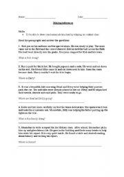 English Worksheet: Making Inferences