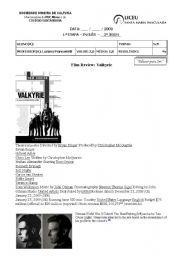 English Worksheets: valkyrie movie