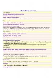 English Worksheets: Introduction to Sentencce 3