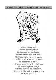 English Worksheet: SpongeBob