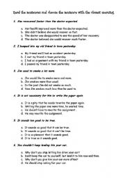 English worksheets: RESTATEMENT