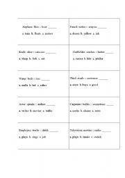 English Worksheets: analogies