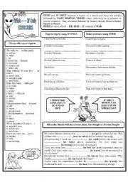 English Worksheet: WISH - - - IF ONLY