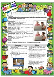 English Worksheet: reading e-books VS reading printed books
