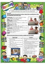 English Worksheets: reading e-books VS reading printed books