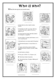 English Worksheet: Jobs (3/3) � Who is who?