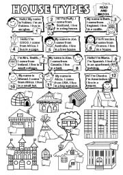 English Worksheet: House types