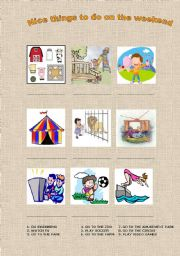 English Worksheets: NICE THINGS TO DO ON THE WEEKEND