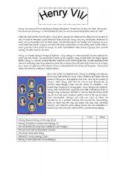 English Worksheets: Henry VIII