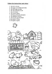 can you follow instructions worksheet