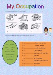 English Worksheets: My occupation