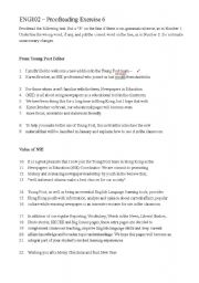 English Worksheet: proofreading exercise 6