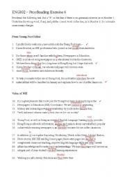 English Worksheet: proofreading exercise 6_key
